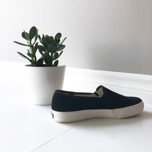 Keds Double Decker Suede Shearling Sneakers